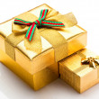 Beautiful boxes for gifts — Stock Photo