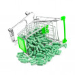 Carts filled with pills — Stock Photo
