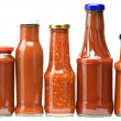 Ketchup bottles - Stock Photo