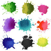 Set of watercolor blobs — Stock Photo