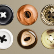 Stock Photo: Highly detailed set of buttons