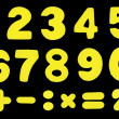 Numbers and mathematic operations simbols — Stockfoto #7427613