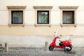 Moto rouge — Photo