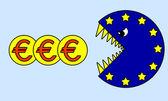 Crise financeira do euro — Foto Stock