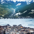 Aeral view down on Zell Am See — Stock Photo #7526780