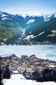Aeral view down on Zell Am See — Stock Photo