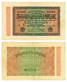 20000 Reishsmark (1923) — Stock Photo