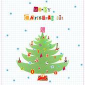 Christmas collage — Stock fotografie