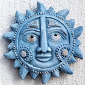 Blue sun — Stock Photo