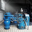 Heavy water pumping machinery — Stock Photo