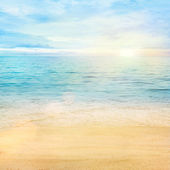 Sea and sand background — Stock Photo