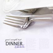 Fourchette et couteau — Photo