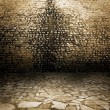 Royalty-Free Stock Photo: Ancient grunge wall made of stone bricks