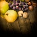 Set of autumn fruit — Stock Photo