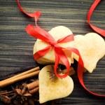 Valentine heart cookies — Stock Photo