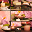 Collage of spa products - Stock Photo