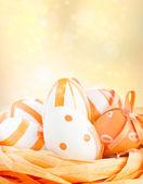Easter eggs in orange tones — Foto de Stock