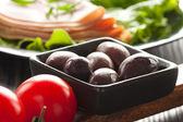 Aceitunas negras — Foto de Stock