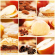 Apple pie collage — Stock Photo