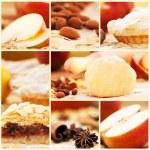 Apple pie collage — Stock Photo