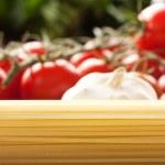 Pasta with ingredients — Stock Photo #6994266