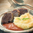 Meat with mashed potatoes — Stock Photo #6994792