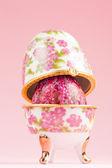 Porcelain egg decoration — Stock Photo
