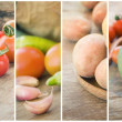 Fresh Vegetables collage — Stock Photo #7146196