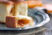 Delicious jam rolls — Stock Photo