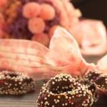 Heart gingerbread cookies — Stock Photo