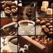 collage van koffie details — Stockfoto