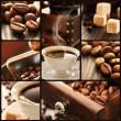 collage di particolari di caffè — Foto Stock