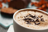 Capuccino close up — Stock Photo