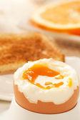Weich gekochtes ei — Stockfoto