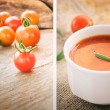 Tomato soup collage — Stock Photo