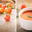 Tomato soup collage — Stock Photo #7529920