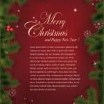 Vector Christmas greeting card — Stock Photo #7809174