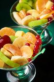 Fruity salad served — Stock Photo