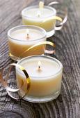 Three candles — Stock Photo