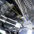 Detail of motorbike engine — Stock Photo #7311823