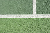 Tennis court line detail — Stock Photo