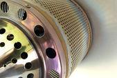 Gas patio heater burner detail — Stock Photo