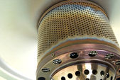 Gas patio heater detail — Stock Photo