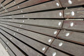 Detail of a public bench — Stock Photo