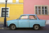 Classical eastern Europe car — Stock Photo