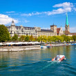 Limmat River, Zurich — Stock Photo #6764959