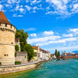 Stock Photo: Reuss River in Lucerne, Switzerland