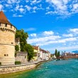 Reuss River in Lucerne, Switzerland - Stock Photo