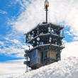 Telecommunication Tower in the snow — Stock Photo