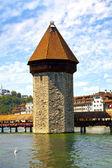 Chapel Bridge Tower in Lucerne, Switzerland — Stock Photo